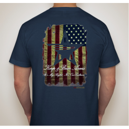 KBA Battle Worn Flag Shirt - Navy