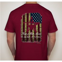 KBA Battle Worn Flag Shirt - Cranberry